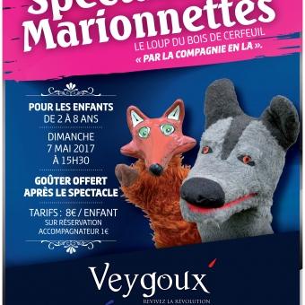 affiche spectacle de marionnettes Veygoux.indd