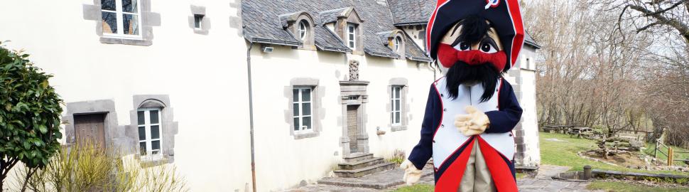 Mascotte Général Moustache Veygoux