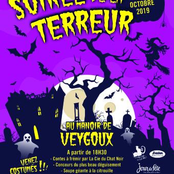Soirée de la terreur Halloween 2019 Manoir de Veygoux
