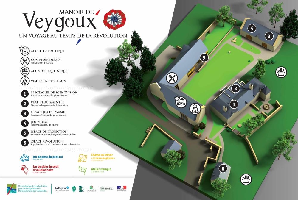 Plan du parc Manoir de Veygoux