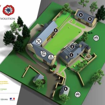 Plan du parc du Manoir de Veygoux