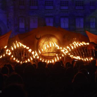 Spectacle de feu Arcanes Manoir de Veygoux