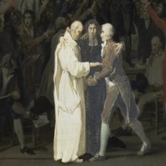 Film du Serment du jeu de paume à la paume Manoir de Veygoux