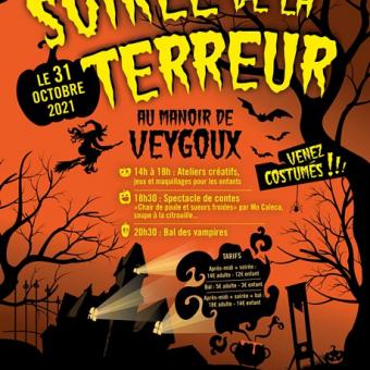 Halloween Soirée de la Terreur Manoir de Veygoux